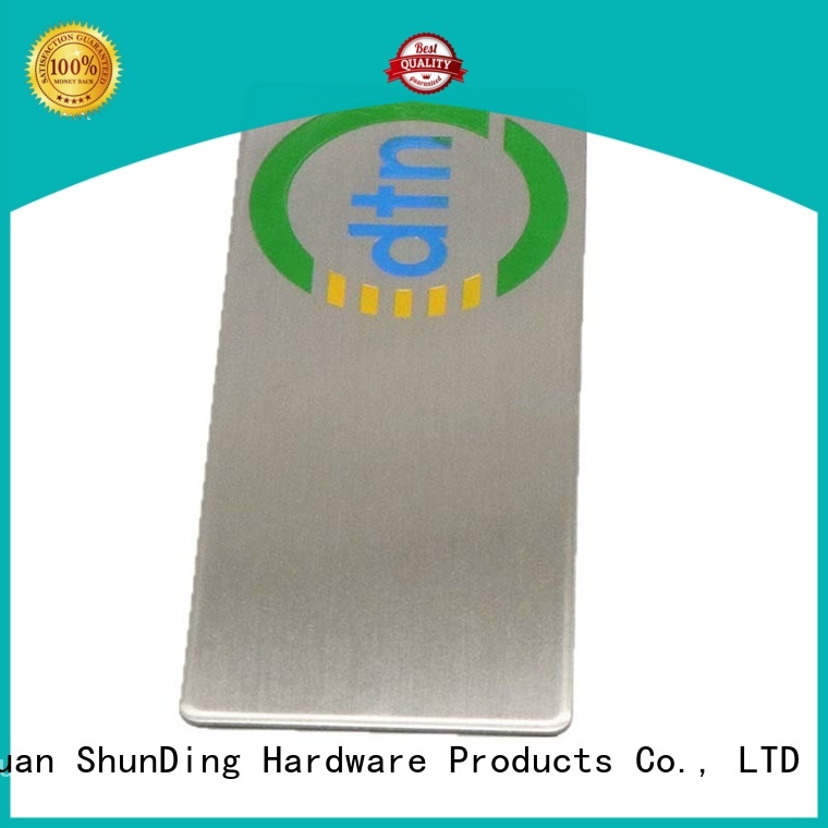 fine- quality aluminium labels round bulk production for company