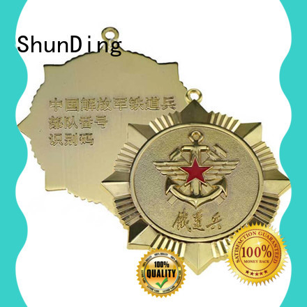 plate custom metal pin badges private for staff ShunDing