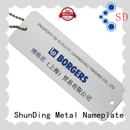 pattern metal id tags brown for souvenir ShunDing