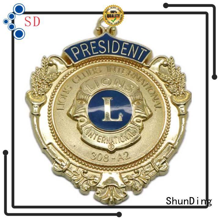 high-quality custom metal logo badges design for sale for commendation