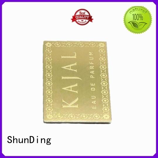 custom metal labels corner for company ShunDing