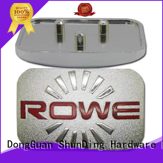 Wholesale diamond cutting silver door name plates ShunDing Brand