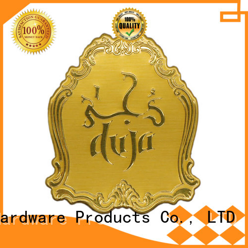 metal customized injected aluminum metal logo stickers ShunDing Brand