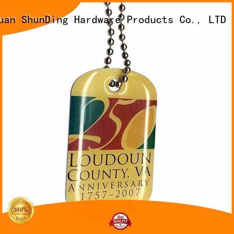 ShunDing quality custom metal tags free design for souvenir
