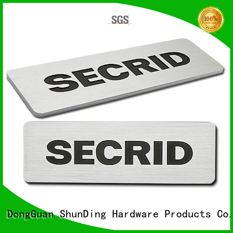 metal name plaques directly sale for identification ShunDing
