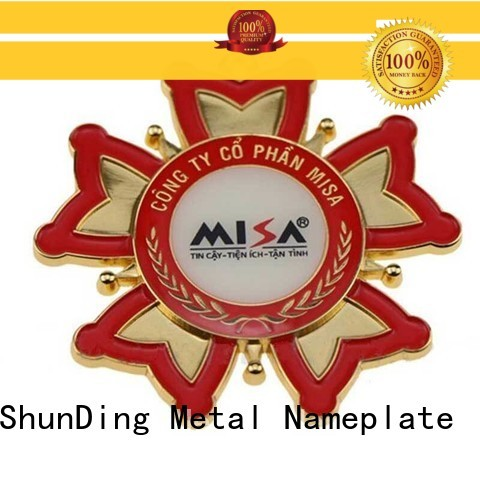 ShunDing magnificent custom metal logo badges type for activist