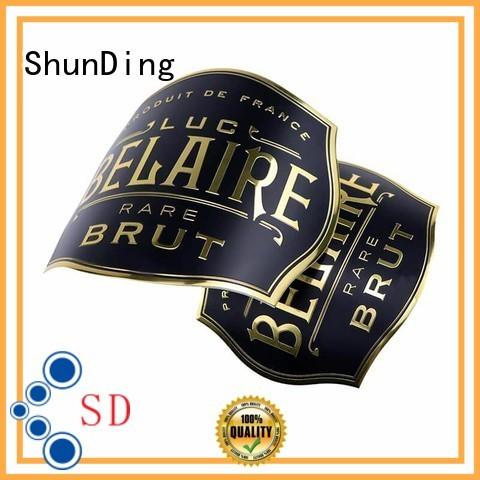 ShunDing new-arrival custom aluminum labels perfume for identification