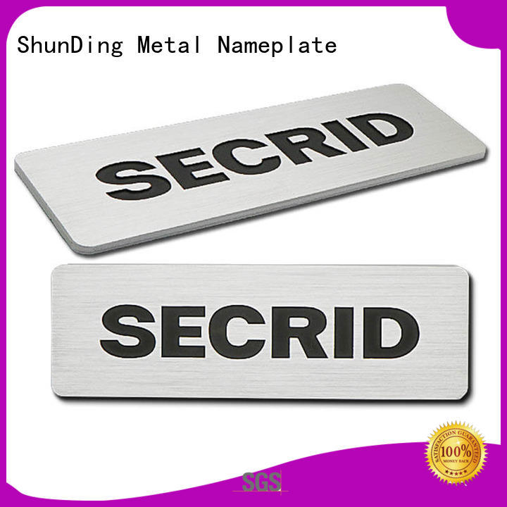 ShunDing exquisite metal engraved name plates from China for staff