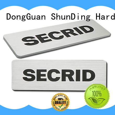 ShunDing diamondcutting aluminum name plates by Chinese manufaturer for auction