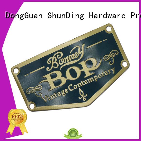 ShunDing Brand plate aluminum metal sticker manufacture