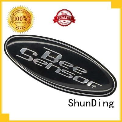 ShunDing Brand stamped thin customized etching metal sticker