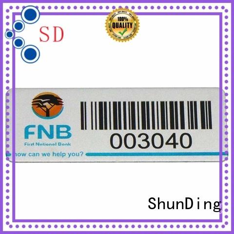 custom aluminum labels embossed for company ShunDing