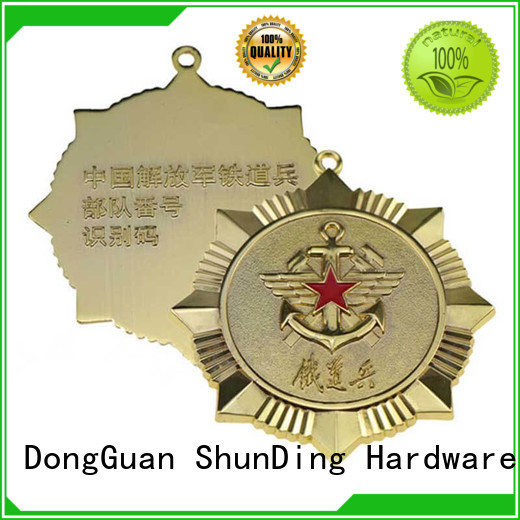 ShunDing Brand badge design customized plate metal badge