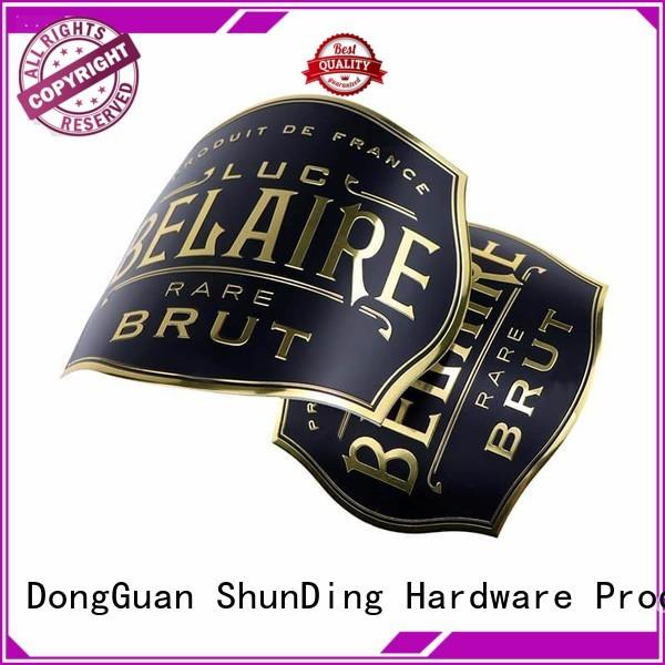 adhesive aluminum labels diamond for activist ShunDing