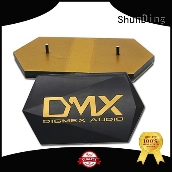 3d small metal name plates by Chinese manufaturer for company ShunDing