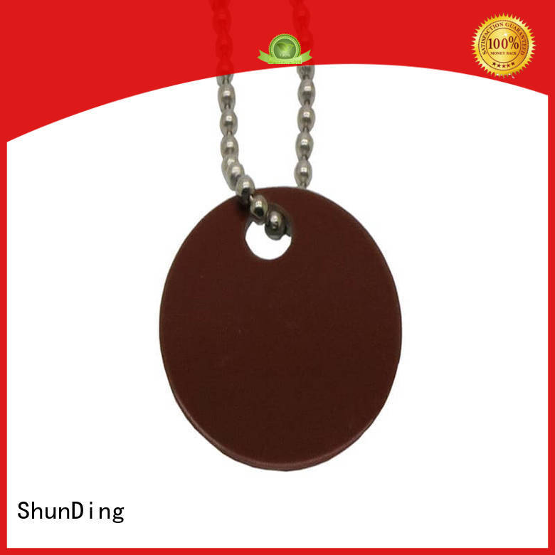 metal dog tags domed embossed pattern key tag manufacture
