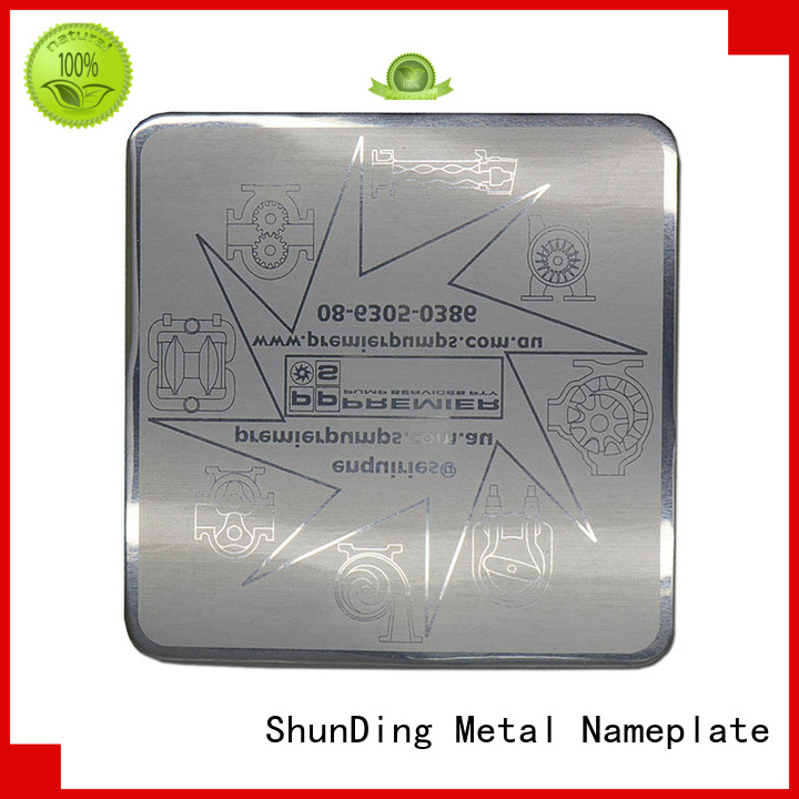 ShunDing wine metal logo stickers by Chinese manufaturer for staff
