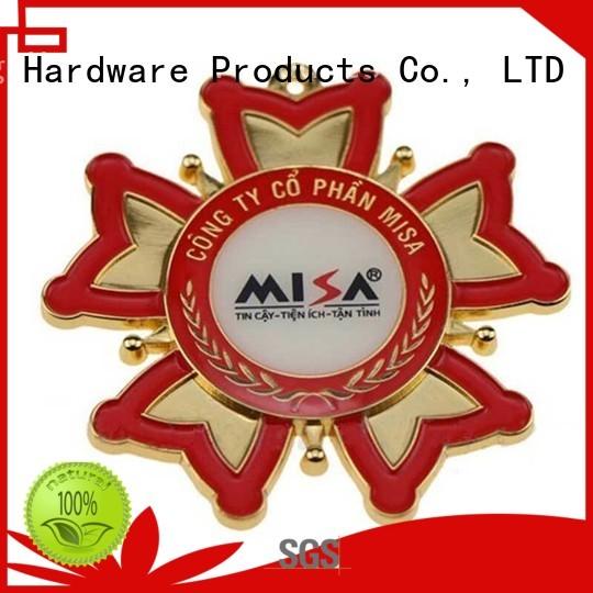 ShunDing resin metal logo badge experts for commendation