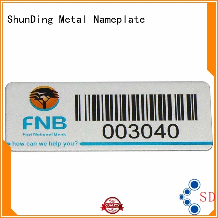 ShunDing domed barcode labels bulk production for auction
