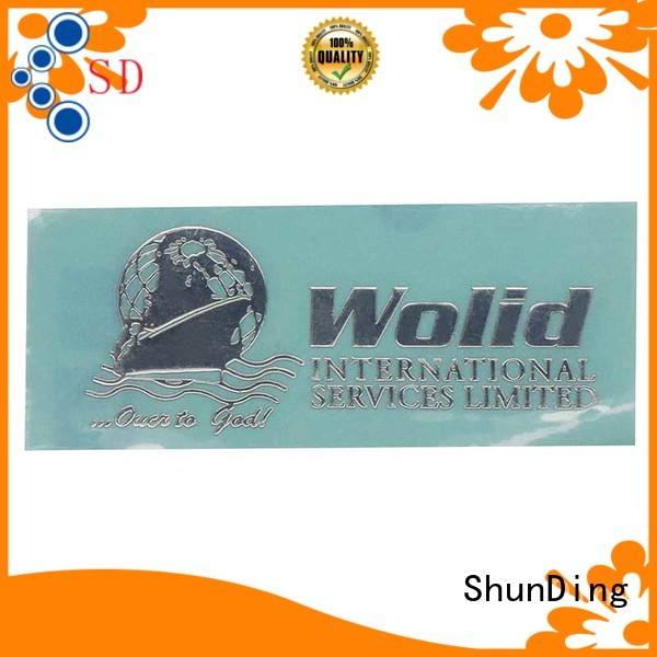 ShunDing bottle epoxy stickers China Factory for auction