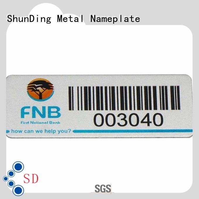 ShunDing stunning self adhesive metal labels factory price for staff