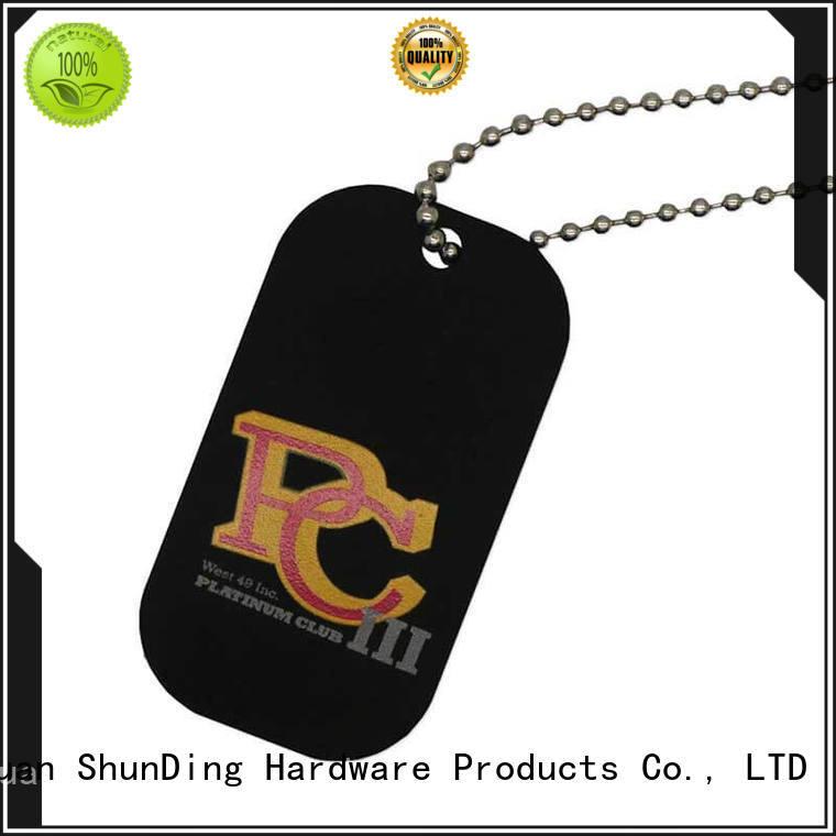 black metal dog tags brown metal ShunDing Brand