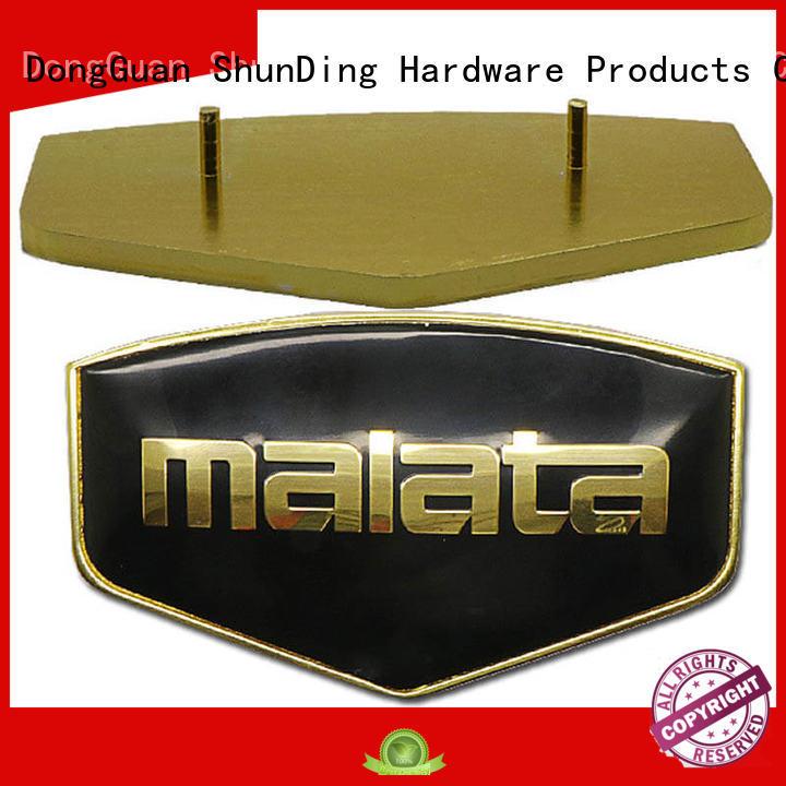 Luxury domed epoxy Metal Nameplate SD-N00006