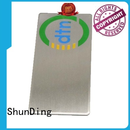 ShunDing Brand label color stainless self adhesive metal labels