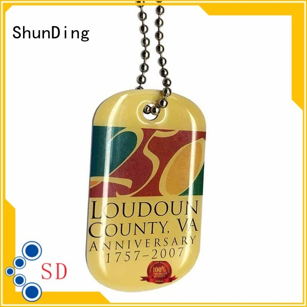 ShunDing stable metal tags cost for souvenir