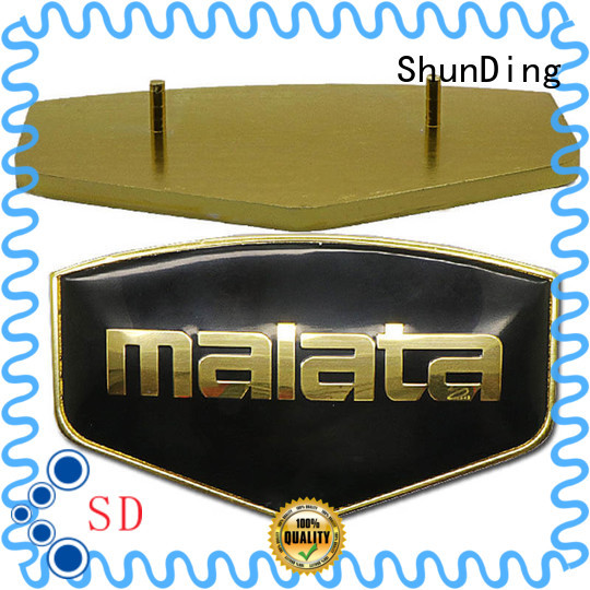 Quality ShunDing Brand metal name plate holes gold