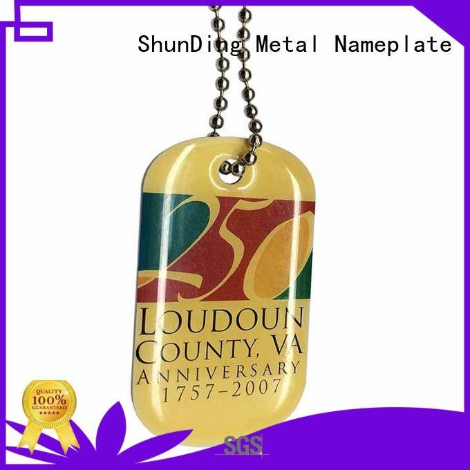 ShunDing chain metal asset tags bulk production for auction