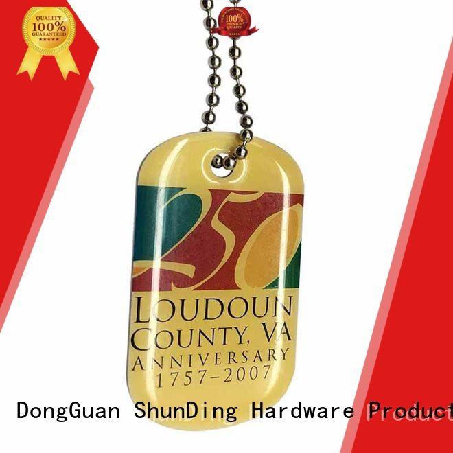 metal dog tags hang tag 3d key tag ShunDing Brand