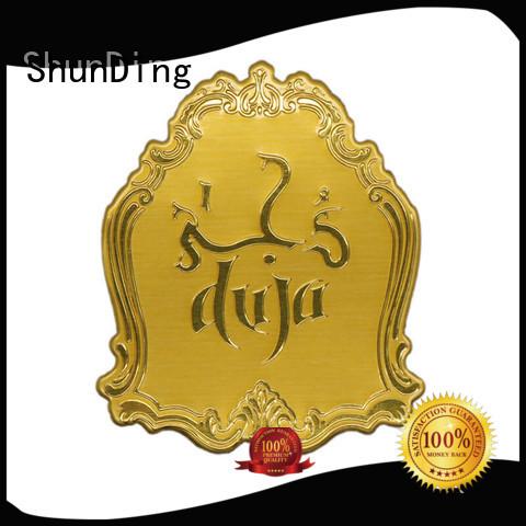 metal plate sticker silver for activist ShunDing