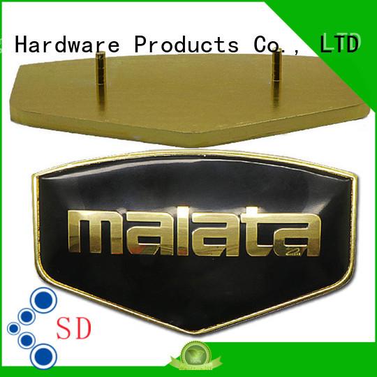 ShunDing industry-leading aluminium name plate domed for identification