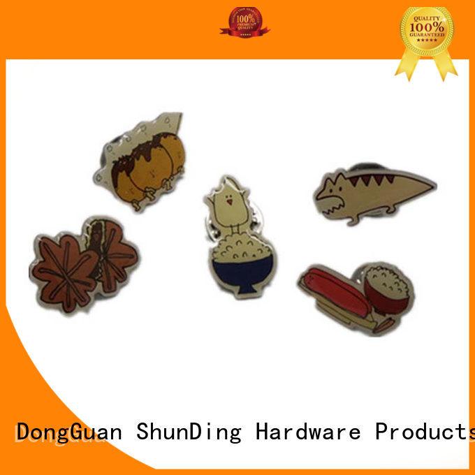 ShunDing souvenir custom metal badges supplier for auction