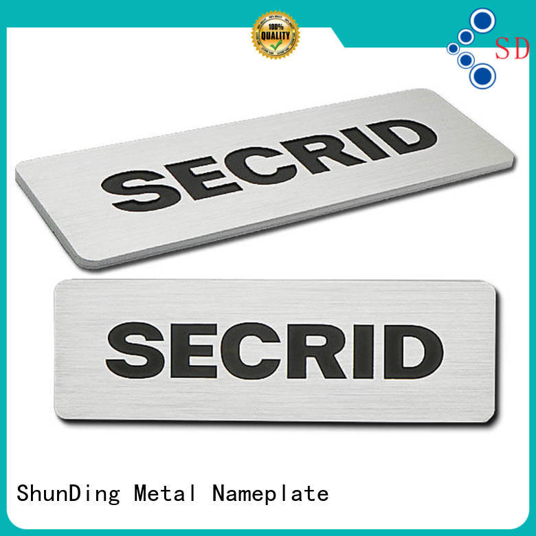 ShunDing gold personalized name plates directly sale for souvenir