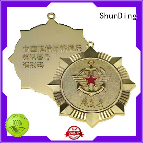 metal security badge adhesive for company ShunDing