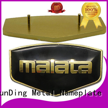 ShunDing domed custom name plates with good price for company