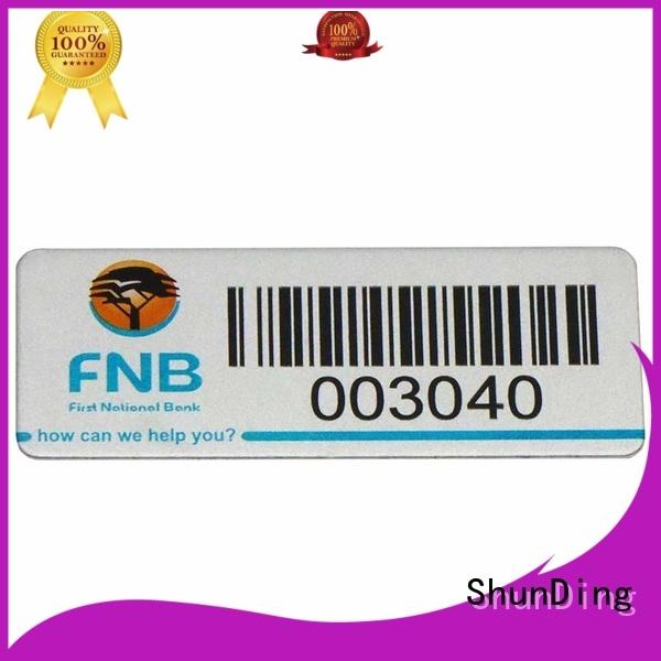 ShunDing Brand bottle label custom self adhesive metal labels