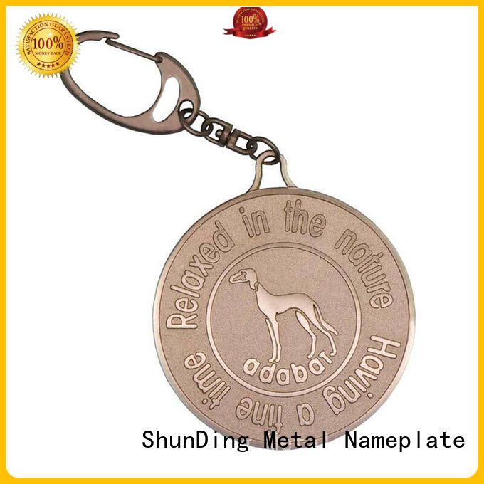 ShunDing fine- quality metal keychain price for auction