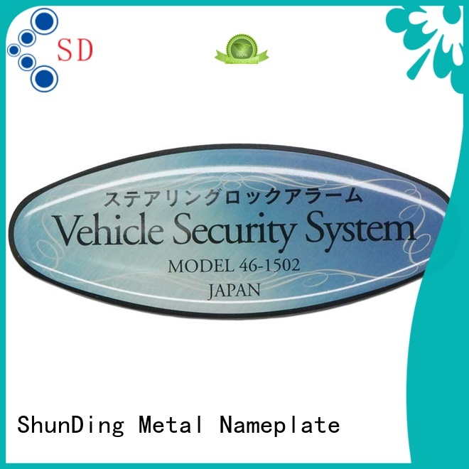 fine- quality metal adhesive labels free quote for souvenir