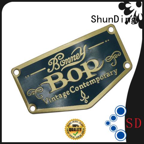ShunDing Brand aluminum customized metal sticker etching factory