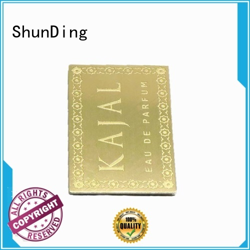 ShunDing Brand round steel self adhesive metal labels cutting supplier