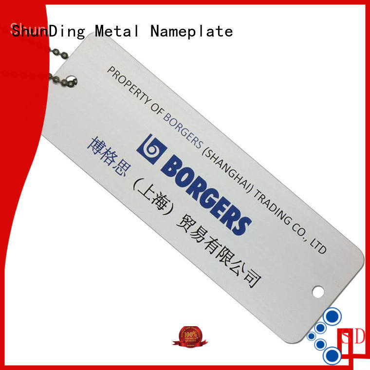 ShunDing anodized brand tag free design for company