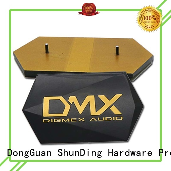 Wholesale private metal name plate ShunDing Brand