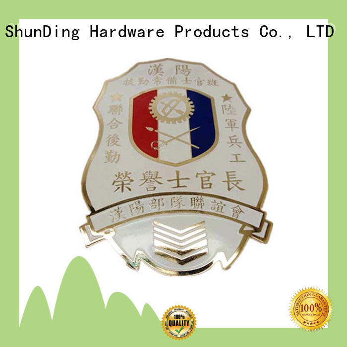 ShunDing stable metal logo badge for sale for commendation