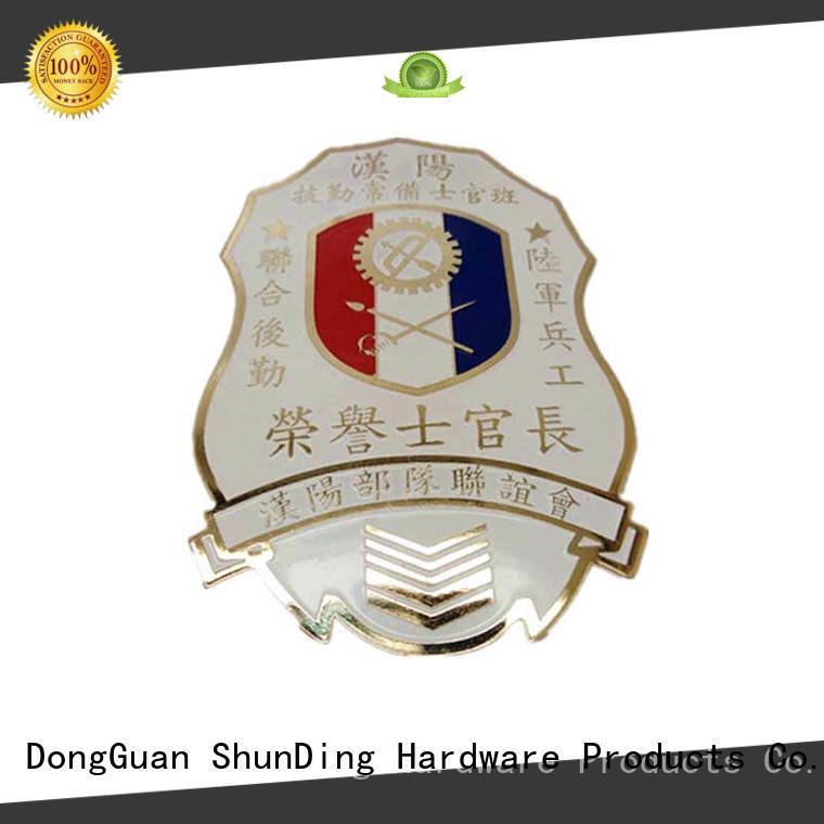 metal police badge adhesive design metal badge manufacture