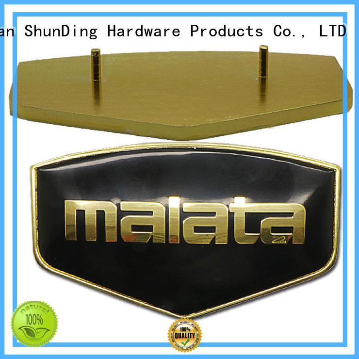 domed gold holes OEM door name plates ShunDing