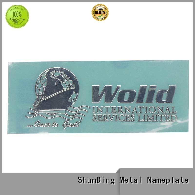 ShunDing anodized nickel sticker by Chinese manufaturer for commendation