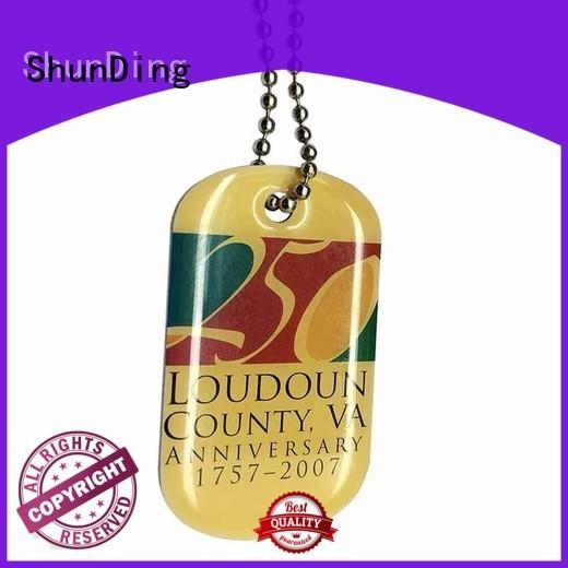 custom chain pattern key tag ShunDing Brand company